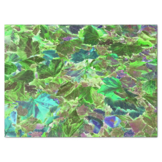 Beautiful Abstract Green Leaves Foliage Tissue Paper