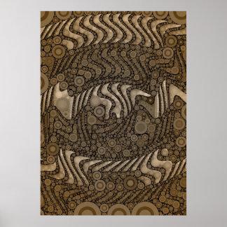 Beautiful Abstract Pattern Semi Gloss Posters