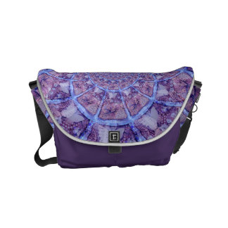 Beautiful abstract purple kaleidoscope courier bags