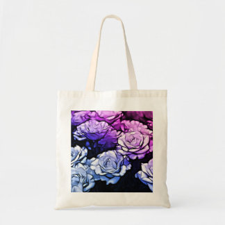 Beautiful Abstract Purple Roses Bags