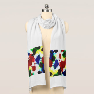 Beautiful Abstract shown on a white Scarf