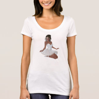 Beautiful African American Woman Ballerina T-Shirt