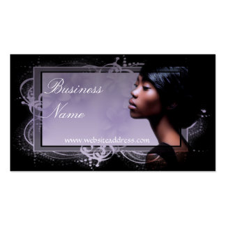 Beautiful African American Woman Business Cards