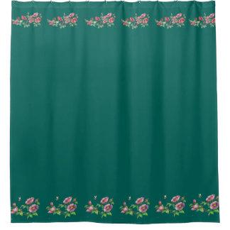 Beautiful Alaska Sitka Rose & Bumble Bee Printed Shower Curtain