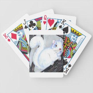 Beautiful Albino Squirrel Bicycle Playing Cards