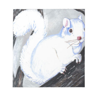 Beautiful Albino Squirrel Notepad
