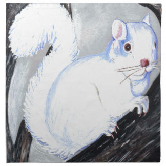 Beautiful Albino Squirrel Printed Napkins
