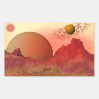 Beautiful Alien Space Scene Stickers
