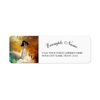 Beautiful amarican indian return address label