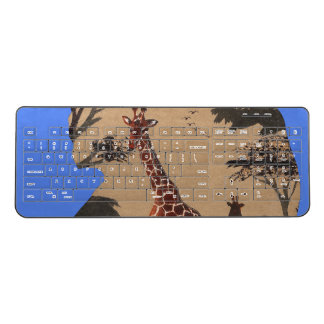 Beautiful Amazing Africa Safari giraffe Kenya wild Wireless Keyboard