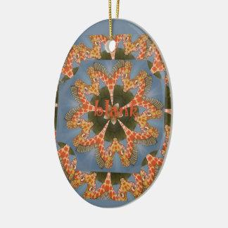 Beautiful amazing African colorful Giraffe blank Ceramic Oval Decoration