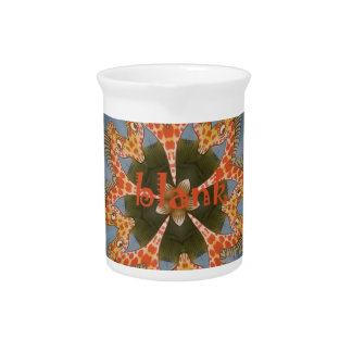 Beautiful amazing African colorful Giraffe blank Drink Pitchers