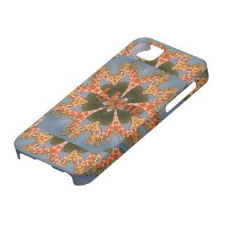 Beautiful amazing African colorful Giraffe blank iPhone 5 Cover