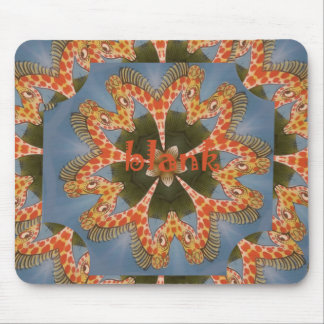 Beautiful amazing African colorful Giraffe blank Mouse Pad