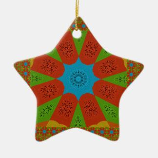 Beautiful Amazing African Feminine Design Colors. Ceramic Ornament
