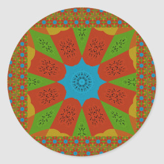 Beautiful Amazing African Feminine Design Colors. Classic Round Sticker
