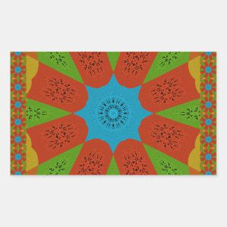 Beautiful Amazing African Feminine Design Colors. Rectangular Sticker