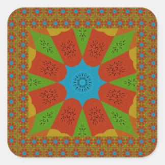 Beautiful Amazing African Feminine Design Colors. Square Sticker
