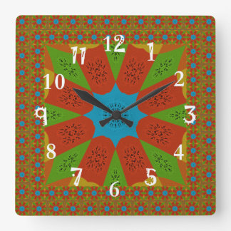Beautiful Amazing African Feminine Design Colors. Square Wall Clock