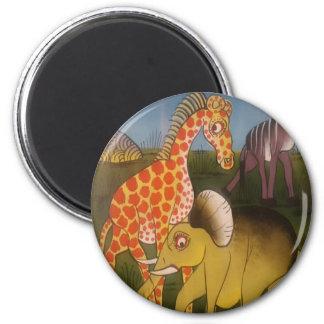 Beautiful Amazing African wild animal safari color 6 Cm Round Magnet