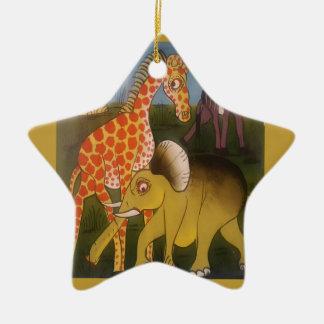 Beautiful Amazing African wild animal safari color Ceramic Ornament