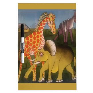 Beautiful Amazing African wild animal safari color Dry Erase Board