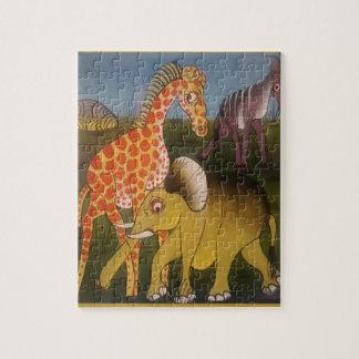Beautiful Amazing African wild animal safari color Jigsaw Puzzle