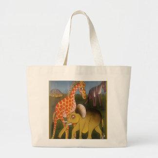 Beautiful Amazing African wild animal safari color Large Tote Bag
