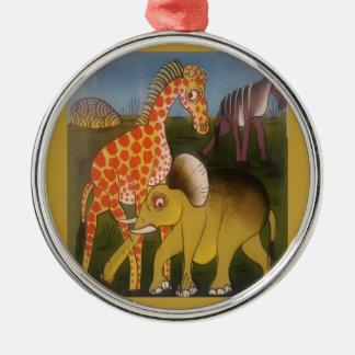 Beautiful Amazing African wild animal safari color Metal Ornament