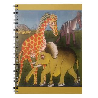 Beautiful Amazing African wild animal safari color Spiral Note Books