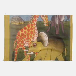 Beautiful Amazing African wild animal safari color Tea Towel