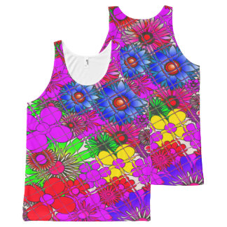 Beautiful Amazing Colorful Clothing floralpattern All-Over Print Singlet