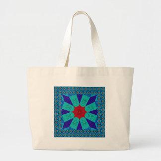 Beautiful Amazing Egyptian  Feminine Design Color Large Tote Bag