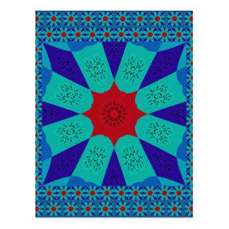 Beautiful Amazing Egyptian  Feminine Design Color Postcard