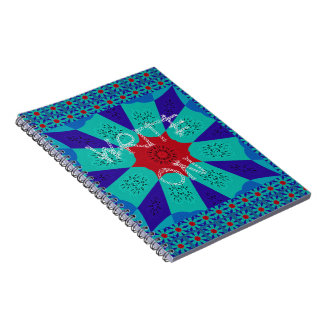 Beautiful Amazing Egyptian  Feminine Design Color Spiral Notebook