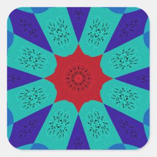 Beautiful Amazing Egyptian  Feminine Design Color Square Sticker