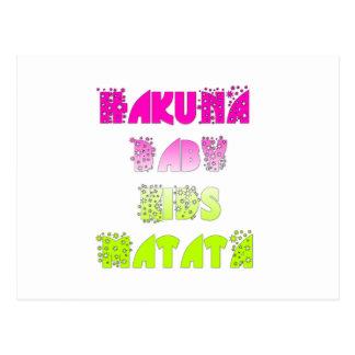 Beautiful amazing feminin Kids Hakuna Matata Gift Postcard