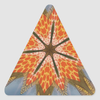 Beautiful amazing feminine African Design animal Triangle Sticker