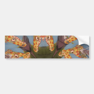Beautiful amazing Funny African Giraffe pattern de Bumper Sticker