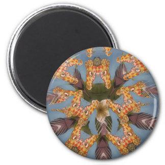 Beautiful amazing Funny African Giraffe pattern de Magnet