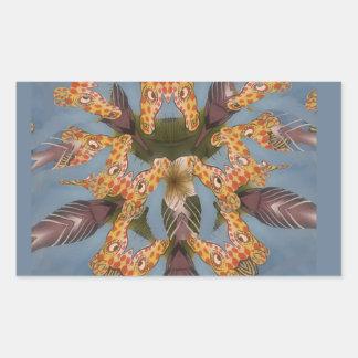 Beautiful amazing Funny African Giraffe pattern de Rectangular Sticker