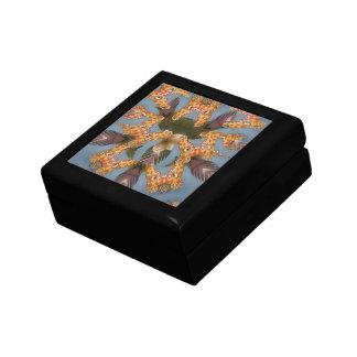 Beautiful amazing Funny African Giraffe pattern de Small Square Gift Box