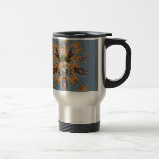 Beautiful amazing Funny African Giraffe pattern de Travel Mug