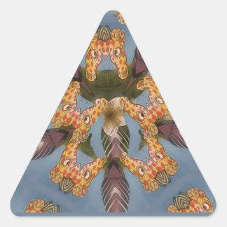 Beautiful amazing Funny African Giraffe pattern de Triangle Sticker