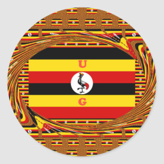 Beautiful amazing Hakuna Matata Lovely Uganda Colo Classic Round Sticker