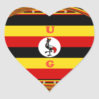 Beautiful amazing Hakuna Matata Lovely Uganda Colo Heart Sticker
