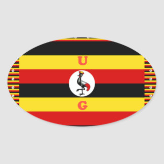 Beautiful amazing Hakuna Matata Lovely Uganda Colo Oval Sticker