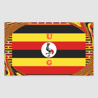 Beautiful amazing Hakuna Matata Lovely Uganda Colo Rectangular Sticker