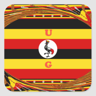 Beautiful amazing Hakuna Matata Lovely Uganda Colo Square Sticker