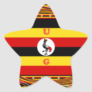 Beautiful amazing Hakuna Matata Lovely Uganda Colo Star Sticker
